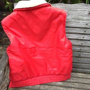 Vintage Jackets & Coats - Vintage Puffer Vest Corduroy Nylon sz M